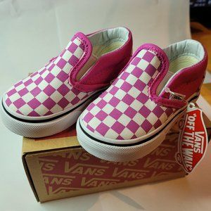 VANS classic slip on checkerboard size 4.5T